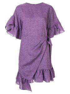 Goen.J Roche ruffled dress - Purple