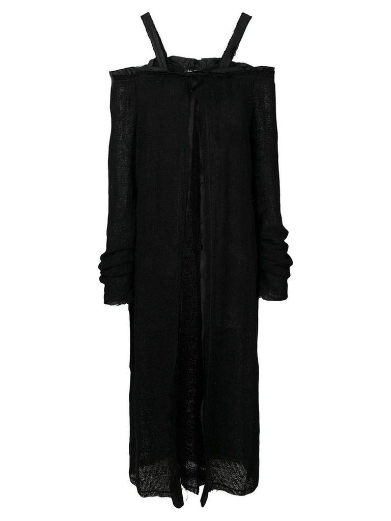 Andrea Ya'aqov long cardi-coat - Black