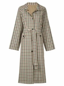 Goen.J reversible gingham checked coat - Multicolour