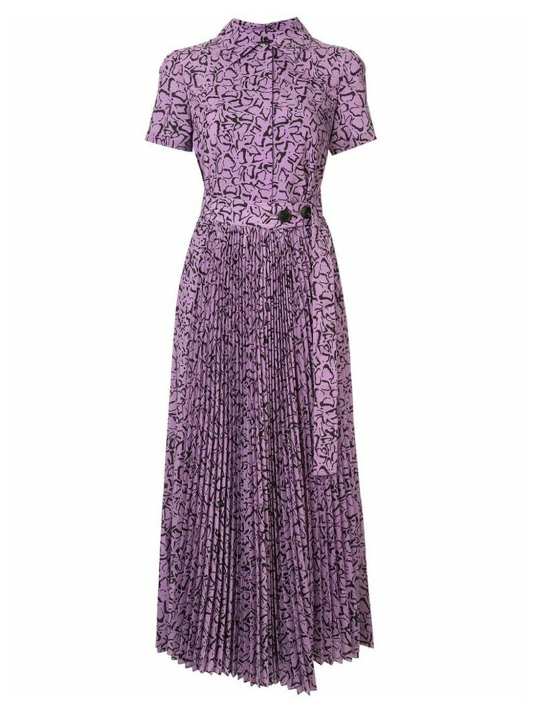 Goen.J Simona printed midi dress - Purple