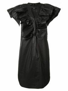 Goen.J stelen ruffled mini dress - Black