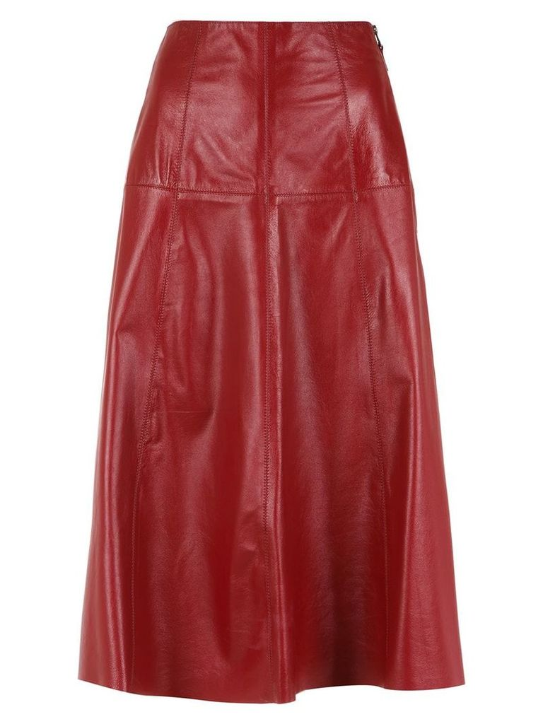 Nk midi leather skirt - Red