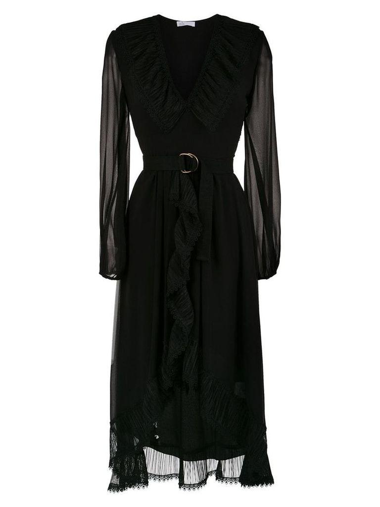 Nk ruffled midi dress - Black