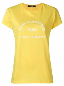 Karl Lagerfeld logo print T-shirt - Yellow