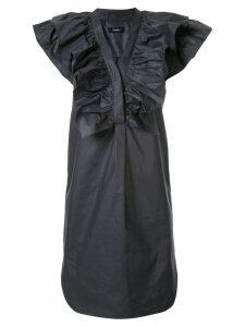 Goen.J stelen ruffled mini dress - Grey