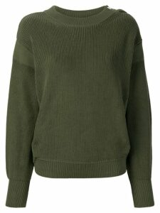 Moncler long-sleeve knitted sweater - Green