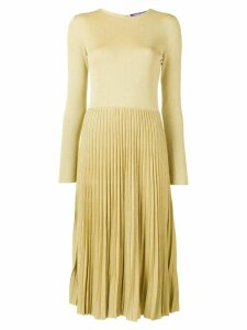Ralph Lauren Collection lurex knit pleated dress - Gold