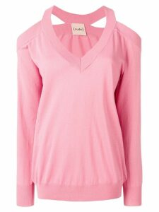 Nude cut-out jumper - Pink