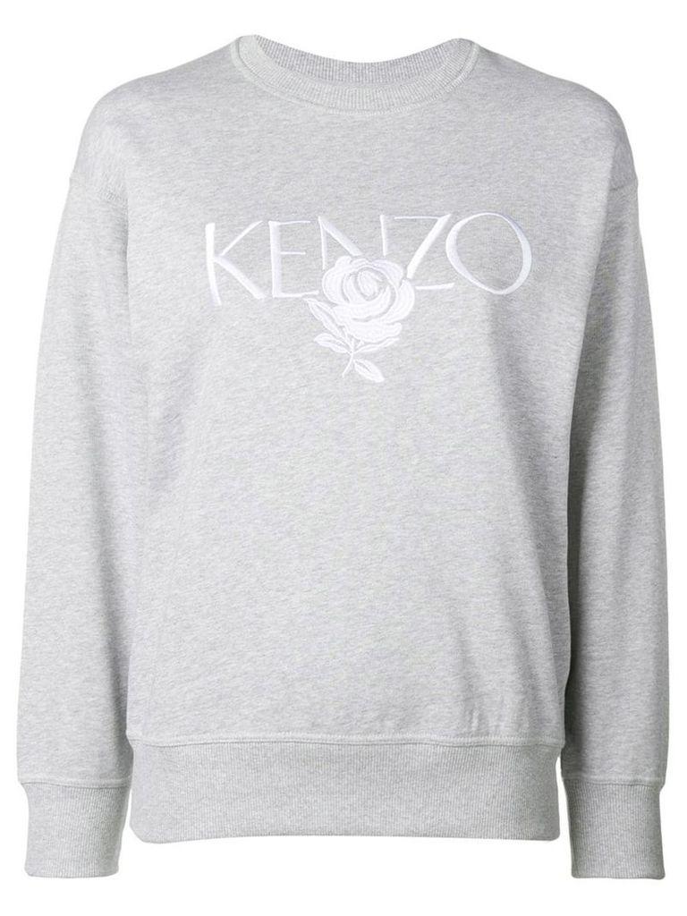 Kenzo embroidered logo sweatshirt - Grey