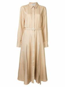 Gabriela Hearst belted shirt dress - Brown