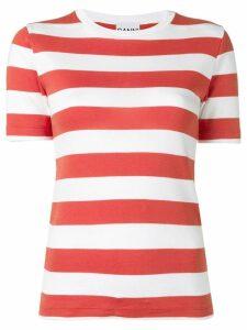 Ganni striped T-shirt - Red
