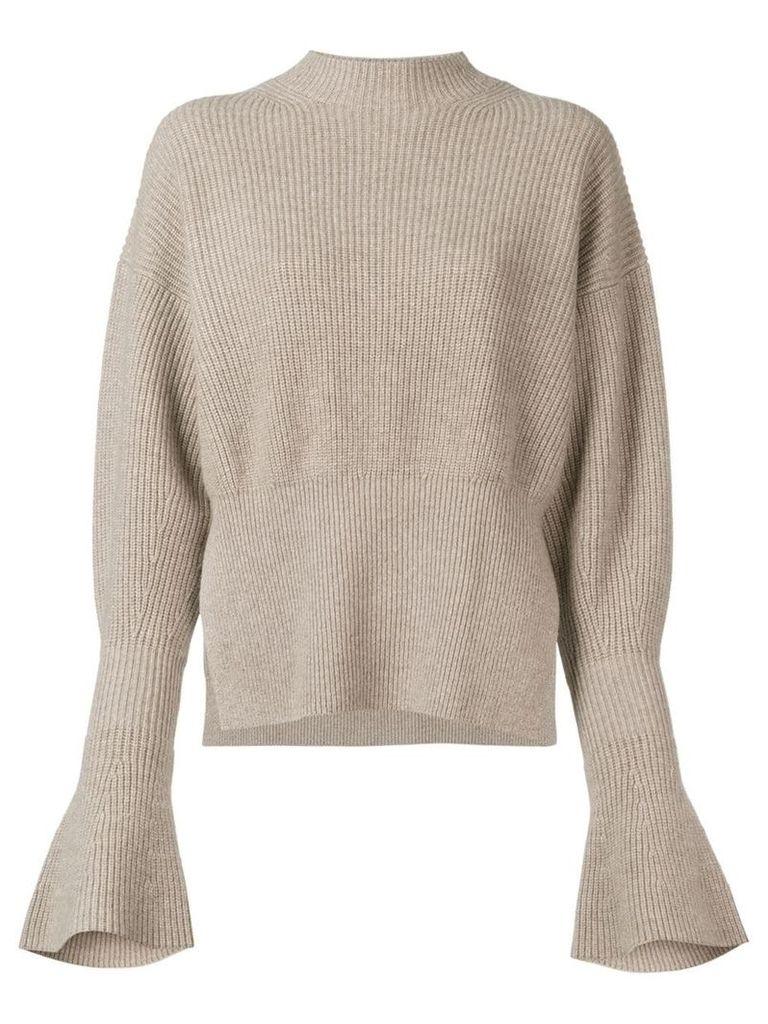 Alexander Wang bell-sleeve sweater - Neutrals