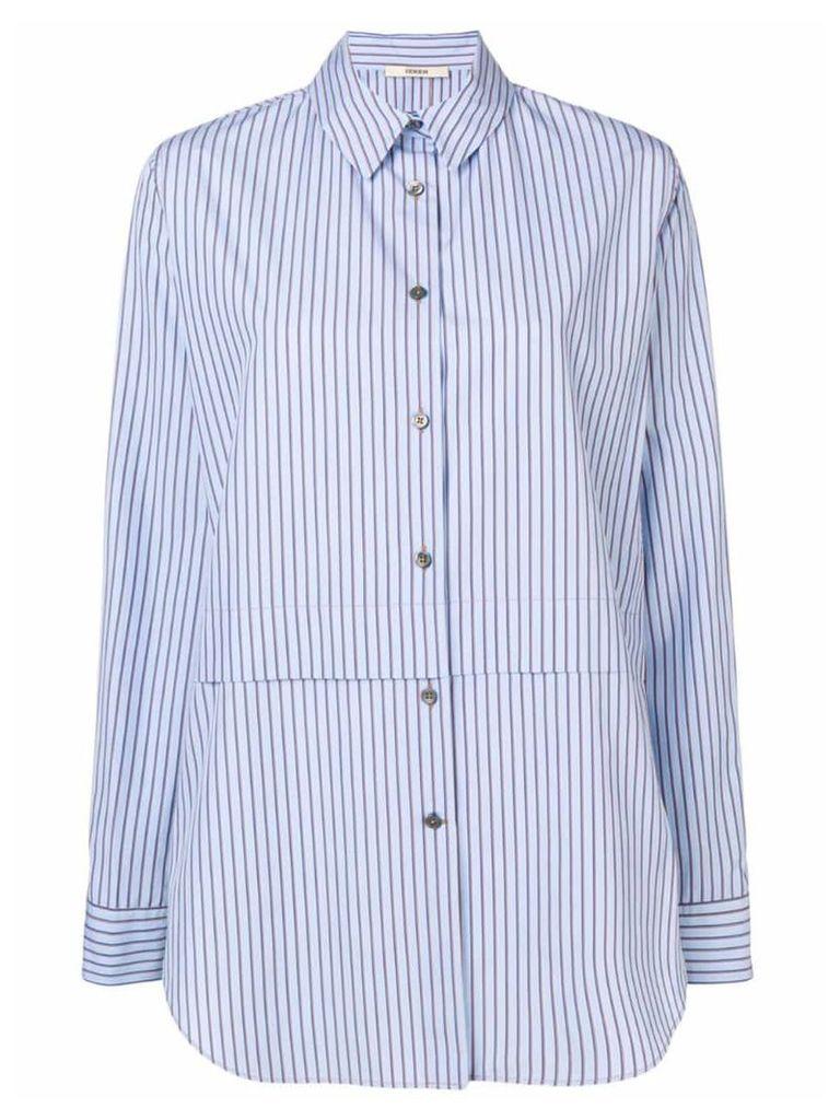Odeeh striped print shirt - Blue