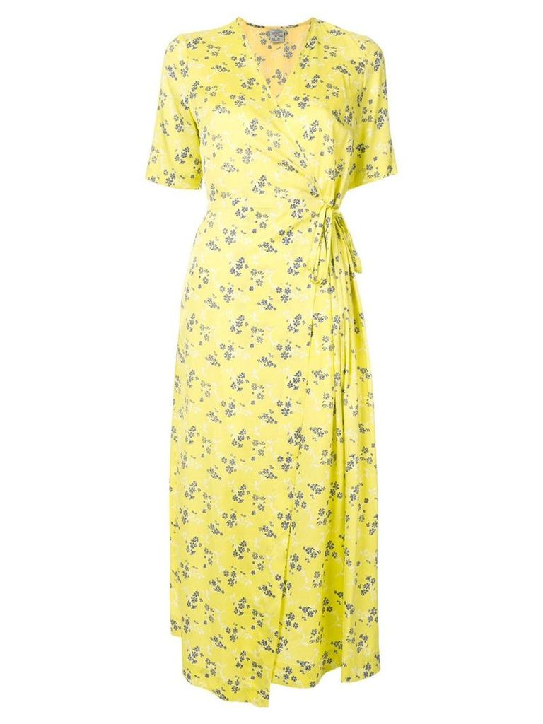 Baum Und Pferdgarten floral-print wrap dress - Yellow