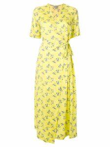 Baum Und Pferdgarten floral-print wrap dress - Yellow