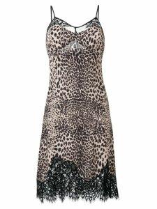 McQ Alexander McQueen animal print cami dress - Black