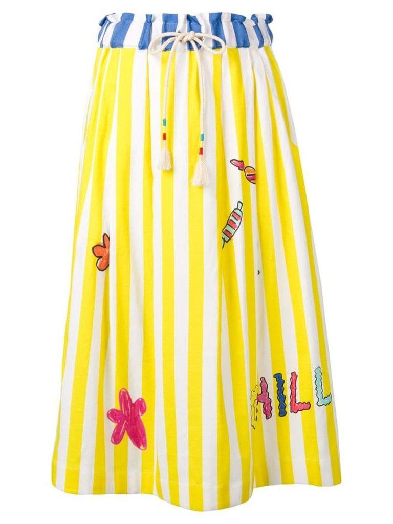 Mira Mikati striped graphic skirt - Yellow