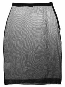 Miu Miu sheer pencil skirt - Black