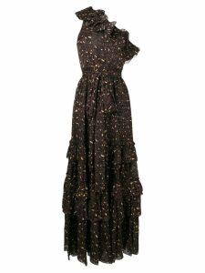 Ulla Johnson one shoulder ruffle dress - Black