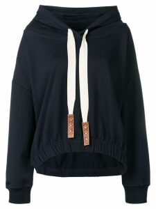 Dorothee Schumacher long-sleeve drawstring hoodie - Blue