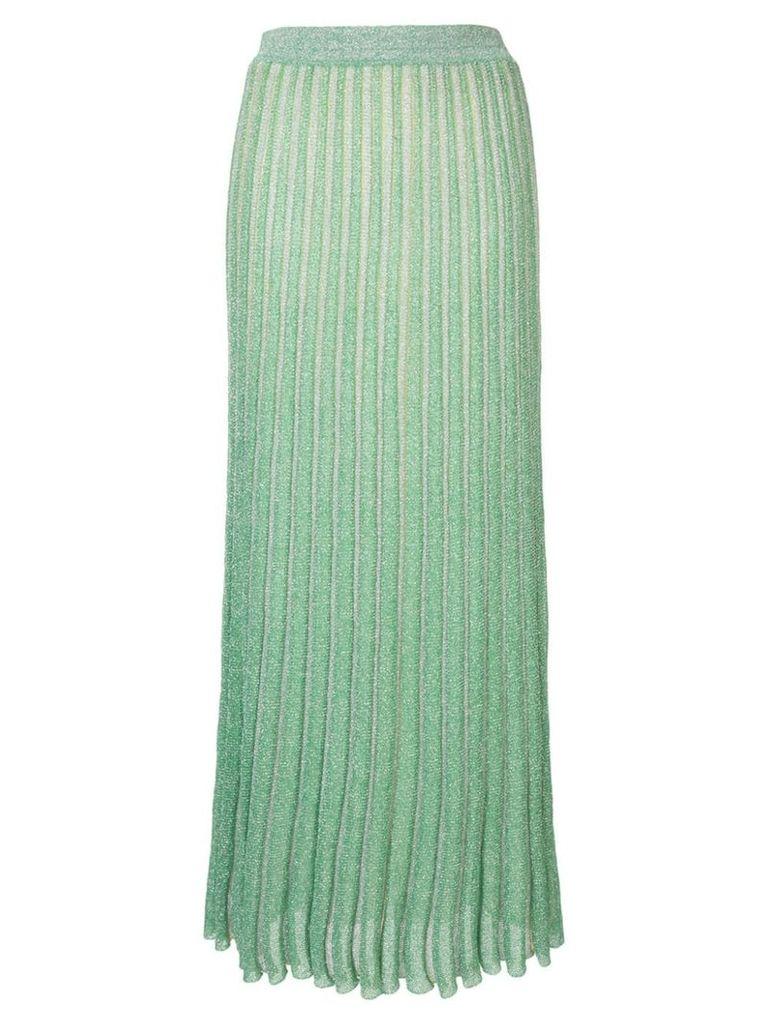 Missoni ribbed green skirt