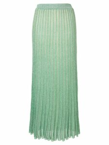 Missoni ribbed green skirt