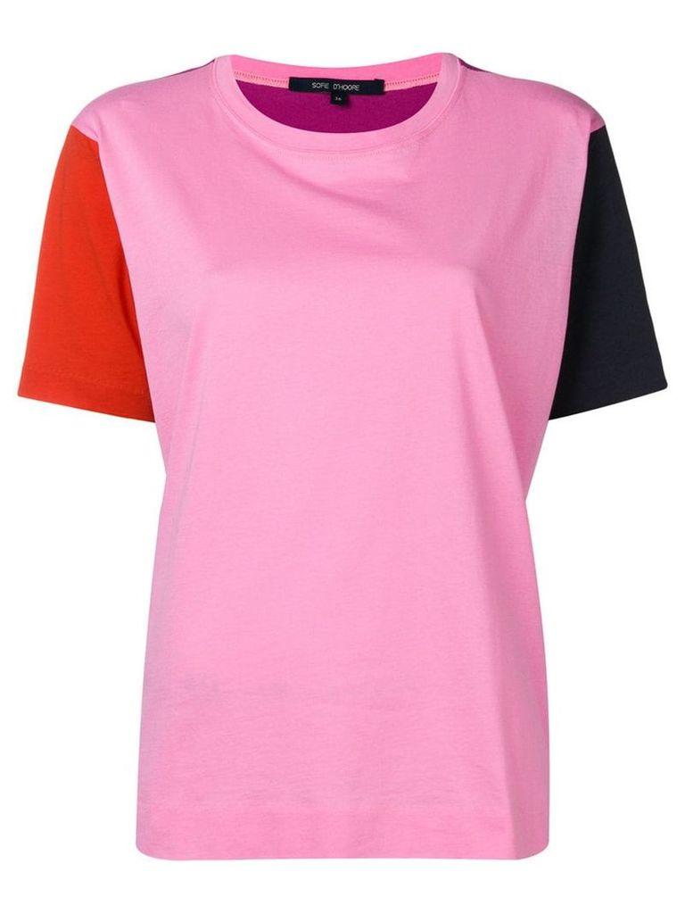 Sofie D'hoore colour-blocked T-shirt - Pink