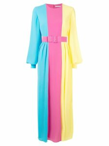 Emilia Wickstead colour block long dress - Multicolour