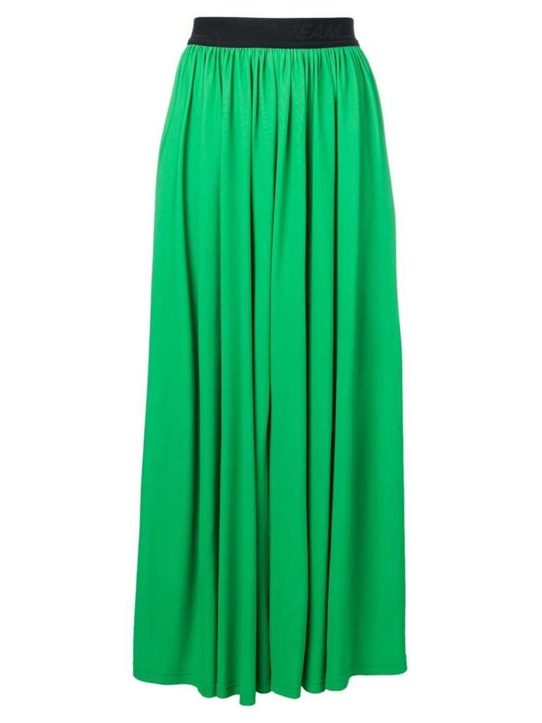 MSGM pleated maxi skirt - Green
