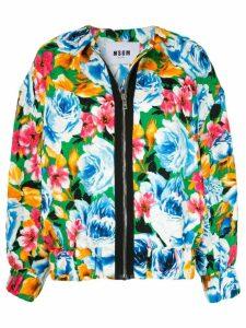 MSGM floral pattern bomber jacket - Multicolour