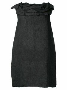 Stefano Mortari ruffled neck dress - Black