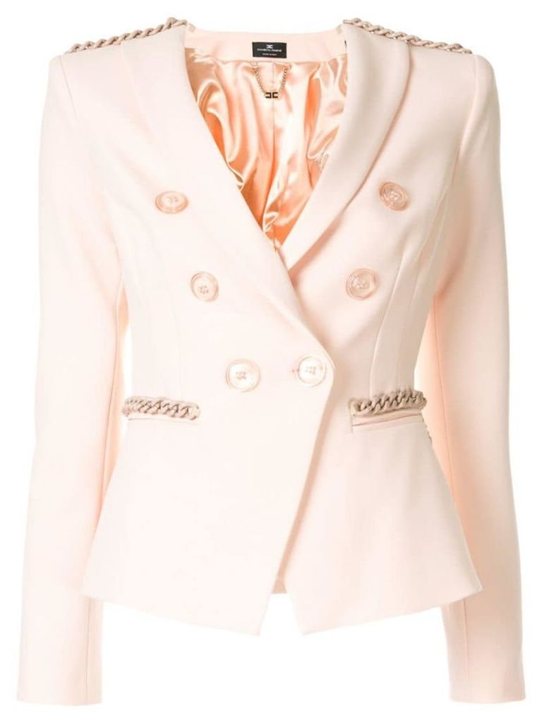Elisabetta Franchi fitted blazer jacket - Pink