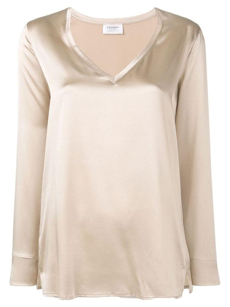 Snobby Sheep v-neck blouse - Neutrals