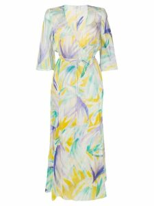 Forte Forte abstract print wrap dress - Green