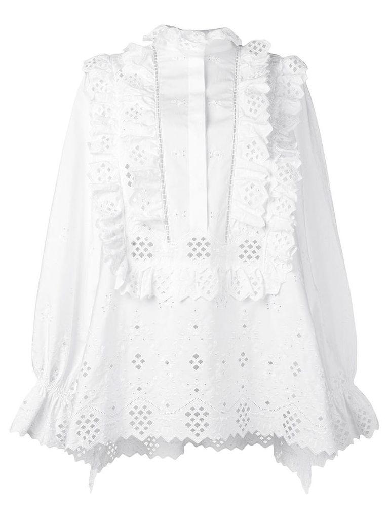 Alberta Ferretti embroidered blouse - White
