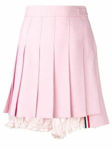Thom Browne Lace Trim Bloomer Miniskirt - Pink