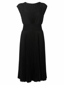Prada pleated midi dress - Black
