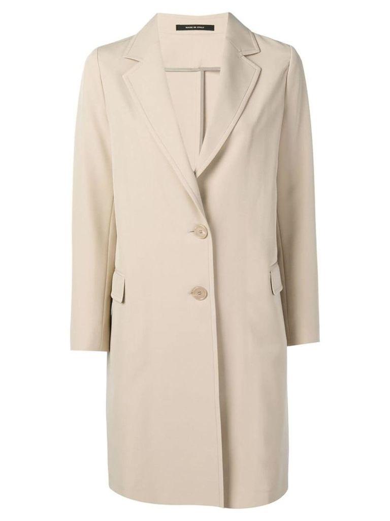 Tagliatore wide lapel coat - Neutrals