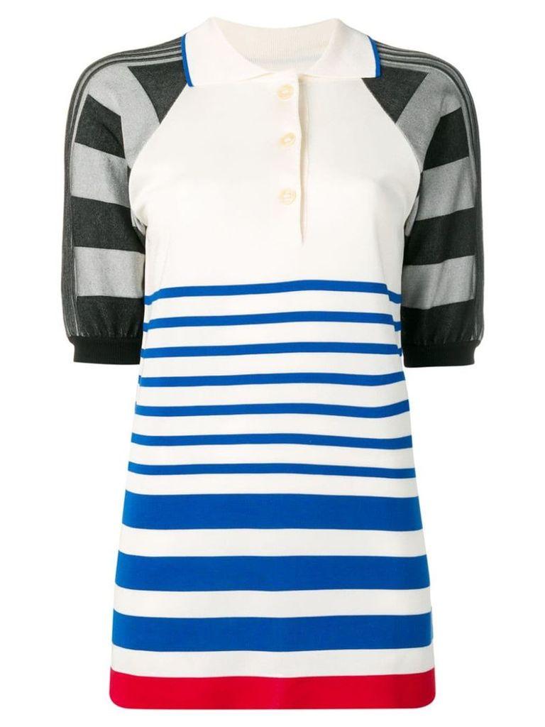Sonia Rykiel striped polo shirt - White