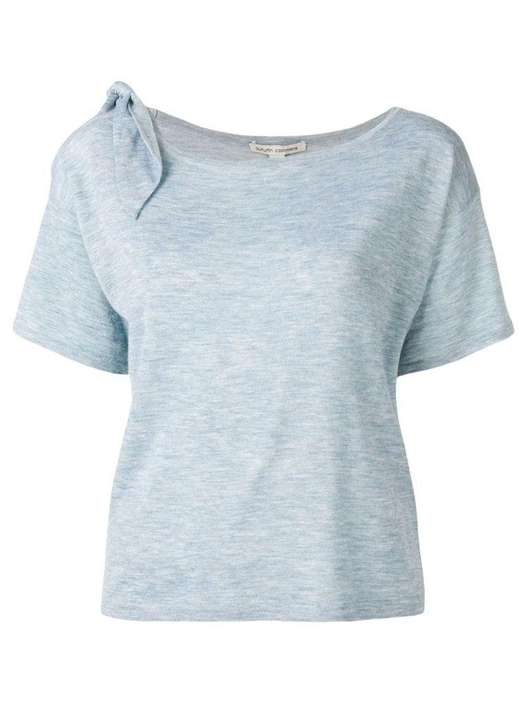 Autumn Cashmere tied shoulder T-shirt - Blue