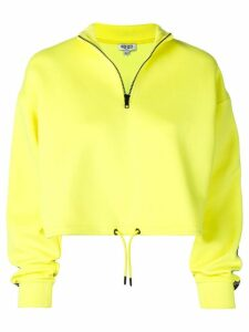 Kenzo cropped logo strip fleece - Yellow