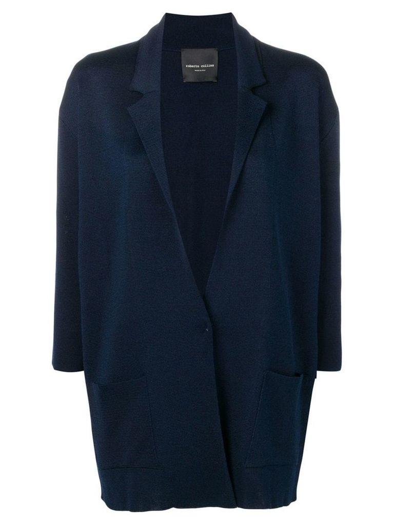 Roberto Collina oversized cardigan - Blue