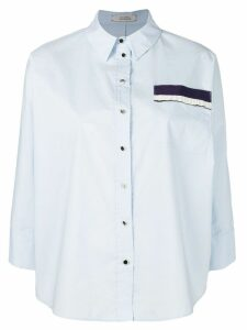 Dorothee Schumacher chest pocket shirt - Blue