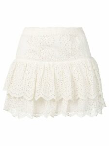 Love Shack Fancy amy skirt - White