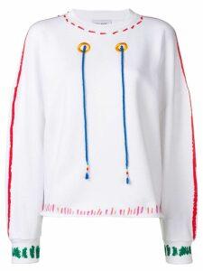 Mira Mikati graphic sweatshirt - White