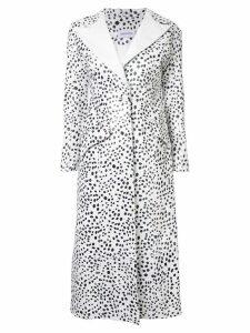 16Arlington Dalmatian print coat - White