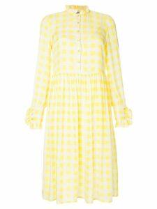 Baum Und Pferdgarten Lemon checked dress - Yellow