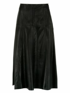 Nk midi leather skirt - Black