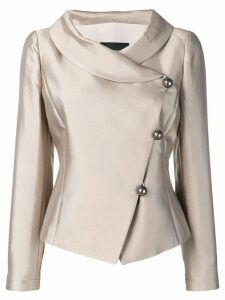 Emporio Armani side button blazer - Neutrals