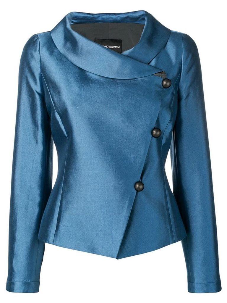 Emporio Armani side button blazer - Blue